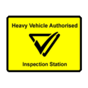 Heavy vehicle autorised inspection station logo