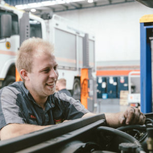 Air conditioning being maintained at Daniels Automotive by Isaac